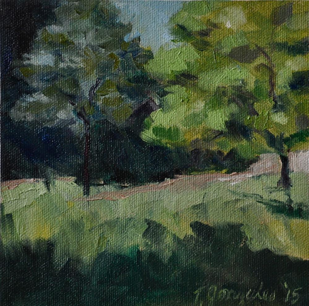 """Trees"" original fine art by Theresa Gonzales"