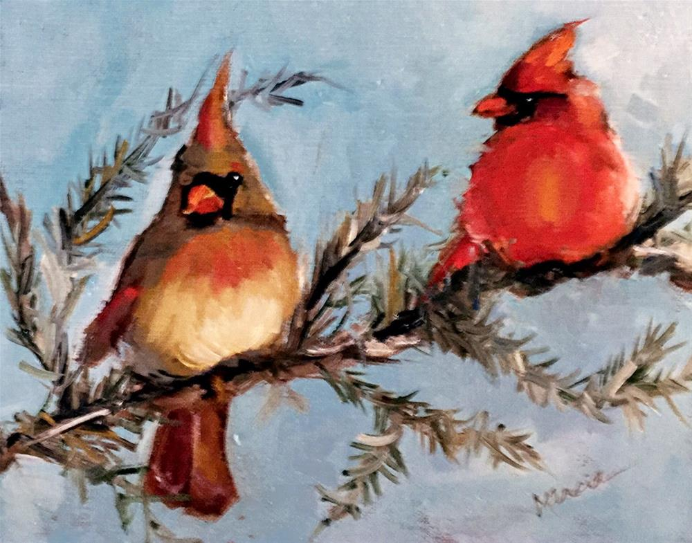"""Me and You"" original fine art by Marcia Hodges"