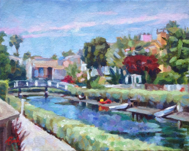 """Venice Canals Walkway #2"" original fine art by Audra Esch"