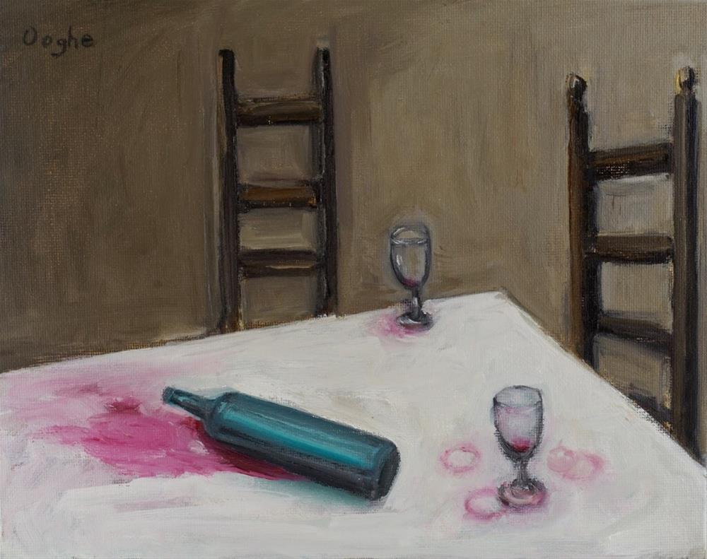 """Wine"" original fine art by Angela Ooghe"