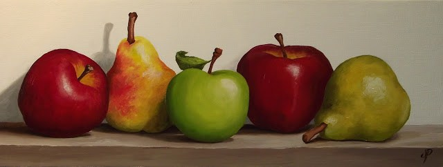 """Apples and Pears"" original fine art by Jane Palmer"