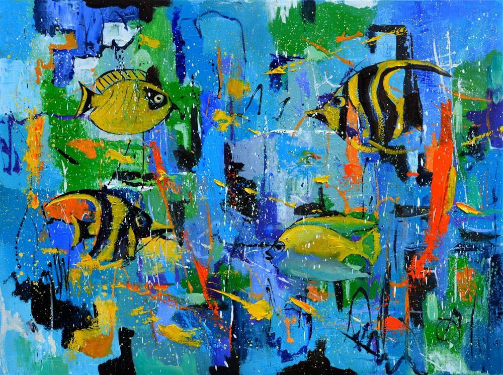 """""""Tropical dream"""" original fine art by Pol Ledent"""