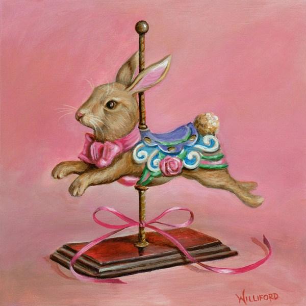 """Bunny Hop"" original fine art by Kathleen Williford"