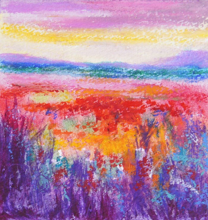 """Wildflower Celebration 1"" original fine art by Marion Hedger"