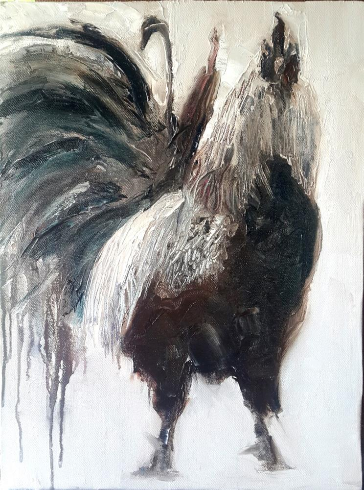 """Feelin cocky!"" original fine art by Rentia Coetzee"