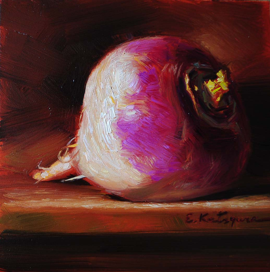 """Turnip"" original fine art by Elena Katsyura"