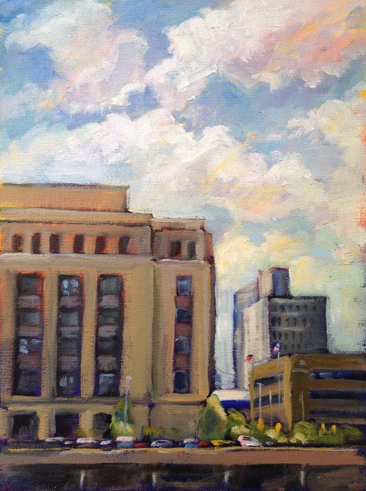 """The Old Post Office"" original fine art by Jeanne Bruneau"