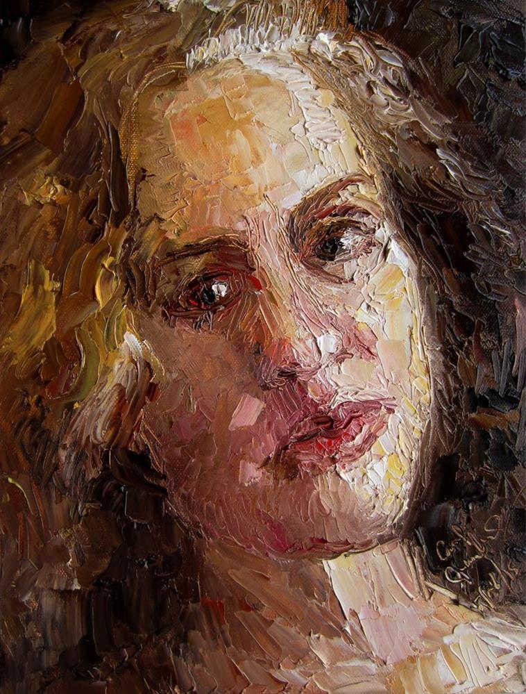 """Birthday Self Portrait"" original fine art by Carol Steinberg"