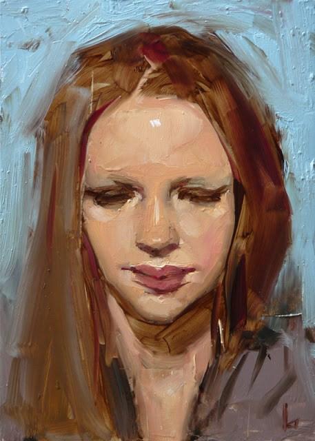 """""""Averted"""" original fine art by John Larriva"""