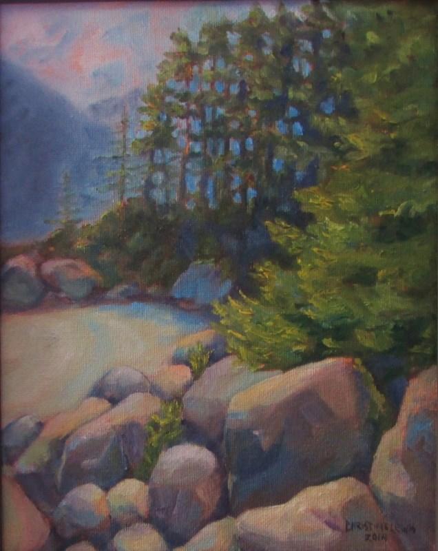 """Beach Combing"" original fine art by Christine Lewis"