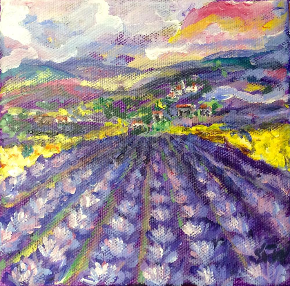 """Sunset in Provence 2"" original fine art by Sonia von Walter"