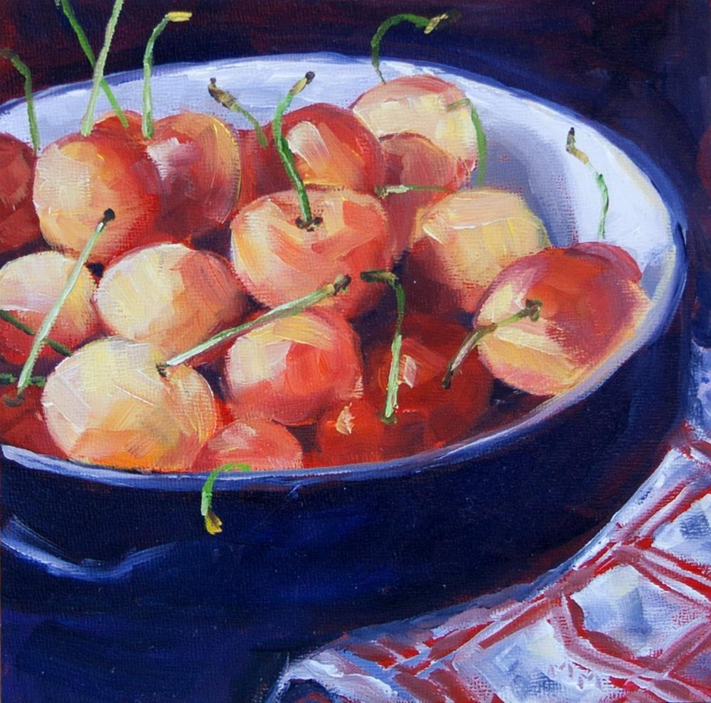"""Bowl of Cherries"" original fine art by Maria McNitt"