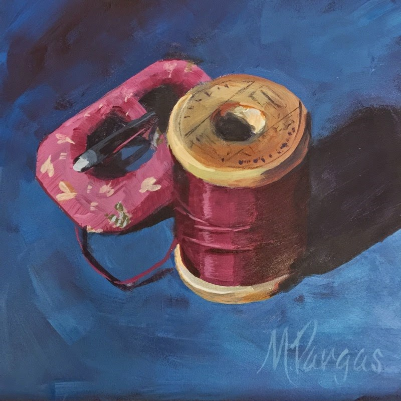 """Buckle Up"" original fine art by Mary Pargas"