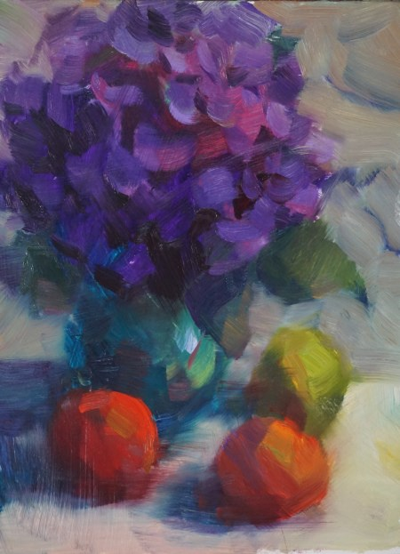 """Purple Hydrangea"" original fine art by Carol Myer"