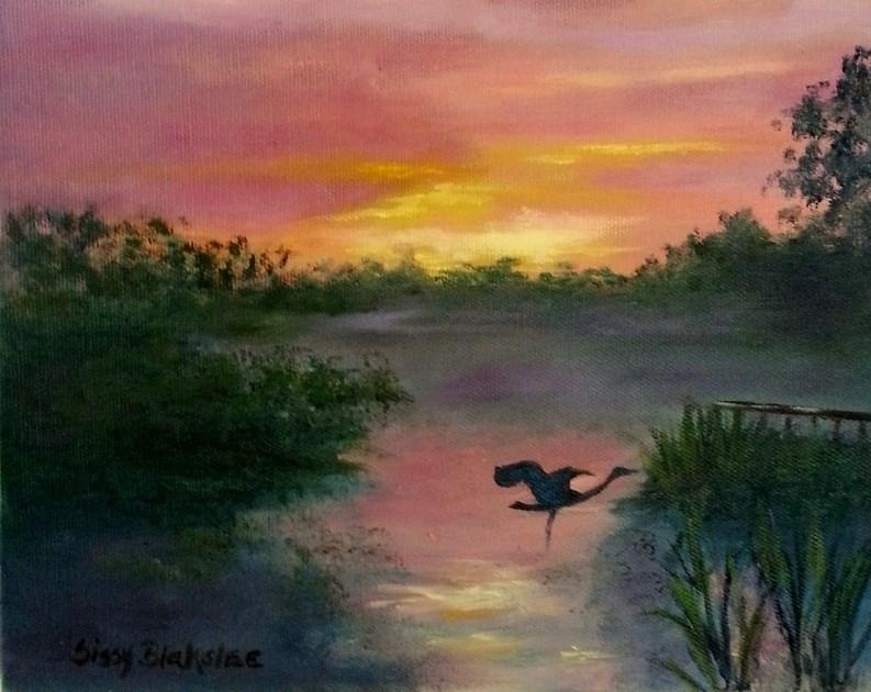 """Last Flight"" original fine art by Sissy Blakslee"