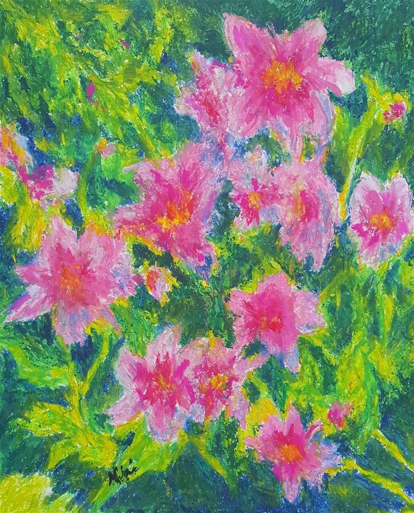 """Happy Flowers"" original fine art by Niki Hilsabeck"