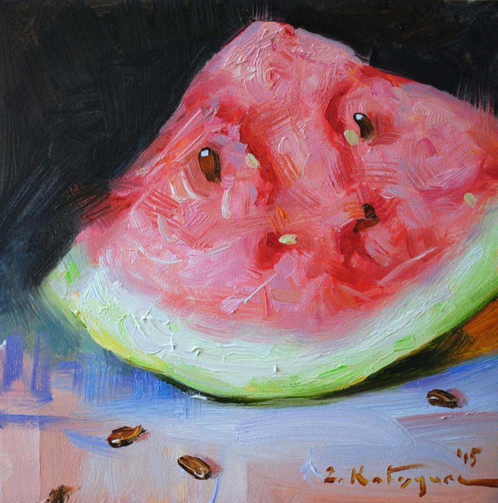 """Watermelon"" original fine art by Elena Katsyura"