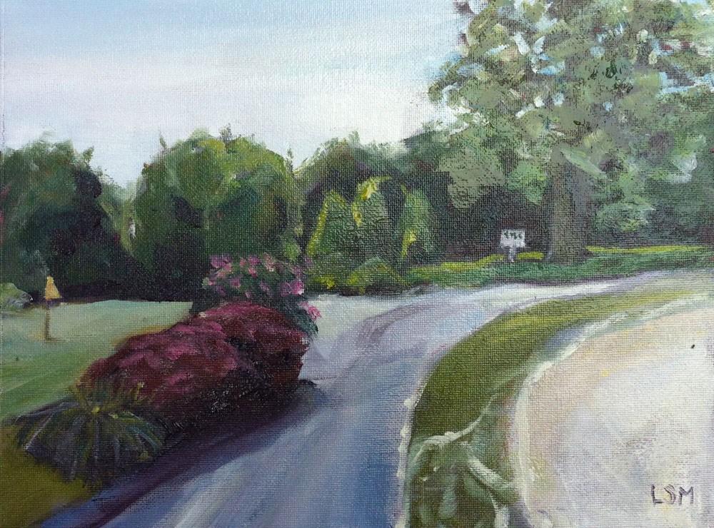 """Grassy Hill Country Club #5"" original fine art by Linda Marino"