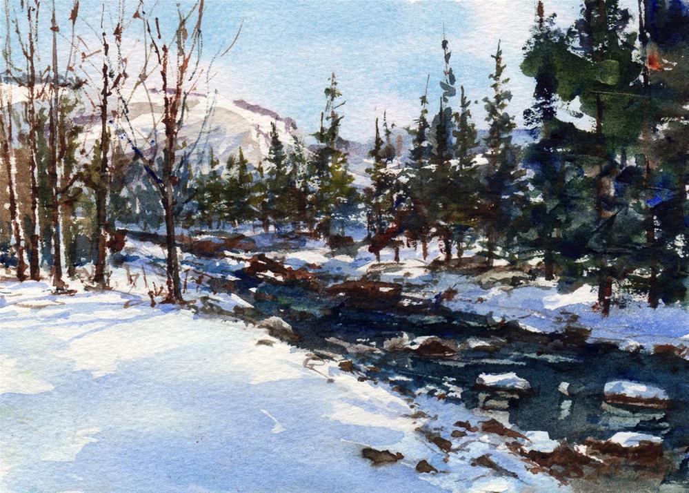 """Aspen Snow"" original fine art by Linda Henry"