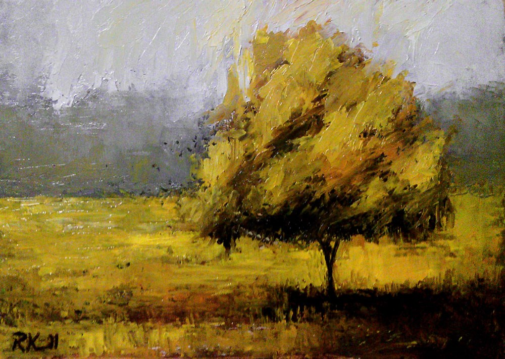 """The Tree in the Park"" original fine art by Bob Kimball"