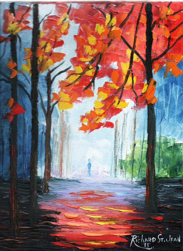 """Autumn Walk"" original fine art by Richard St.Jean"