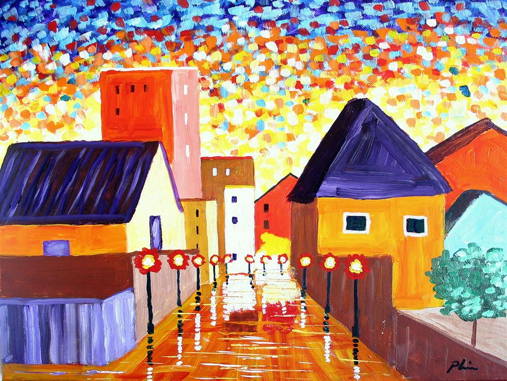 """MAIN STREET"" original fine art by Bob Phillips"