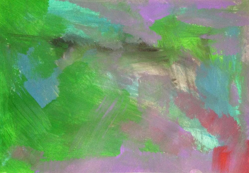 """Shapes, Day 7"" original fine art by Dotty  Seiter"