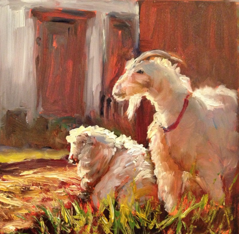 """Billy Goat, Day 19"" original fine art by Claudia L Brookes"