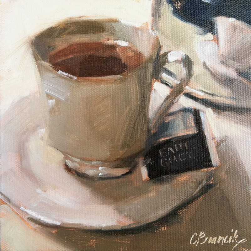"""It's An Earl Grey Day"" original fine art by Candace Brancik"