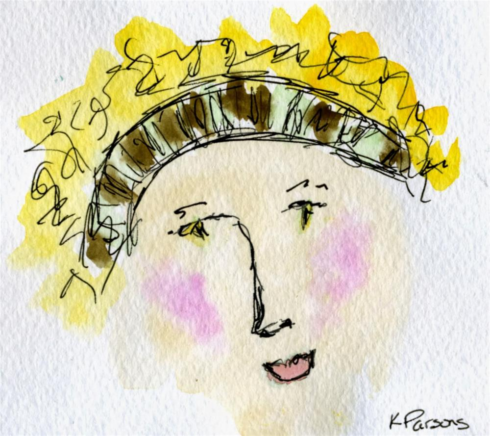 """Hair Outa my Face"" original fine art by Kali Parsons"