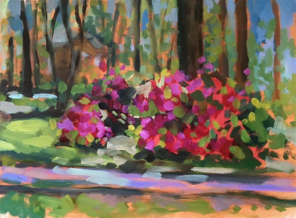 """Azaleas On Park Avenue"" original fine art by Jayne Morgan"