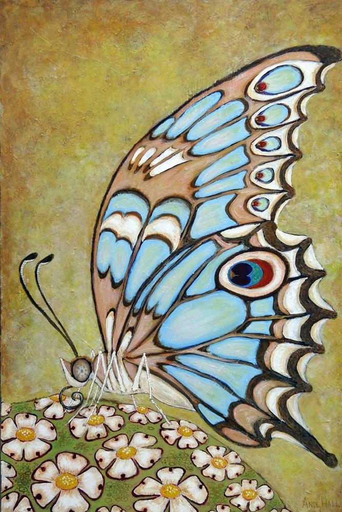"""Schmetterling"" original fine art by Ande Hall"