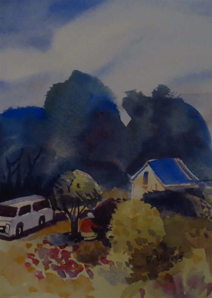 """""""The Gardener"""" original fine art by Dann Morris"""