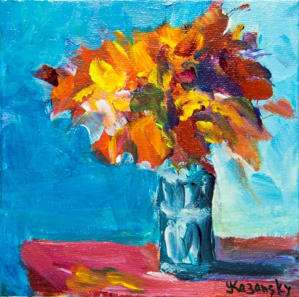 """Floral #5"" original fine art by Yulia Kazansky"