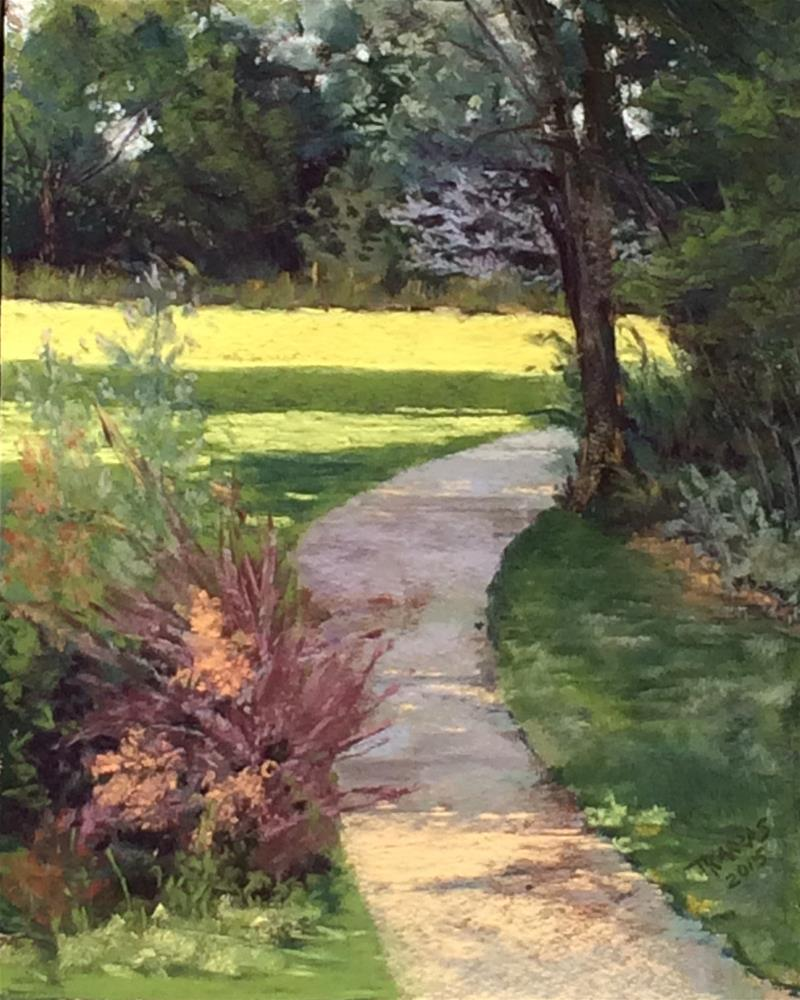 """A Walk in the Park"" original fine art by Christina Karras"