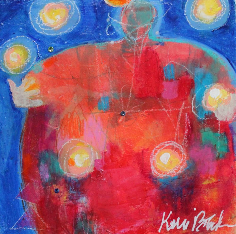 """Juggling Fireballs "" original fine art by Kerri Blackman"