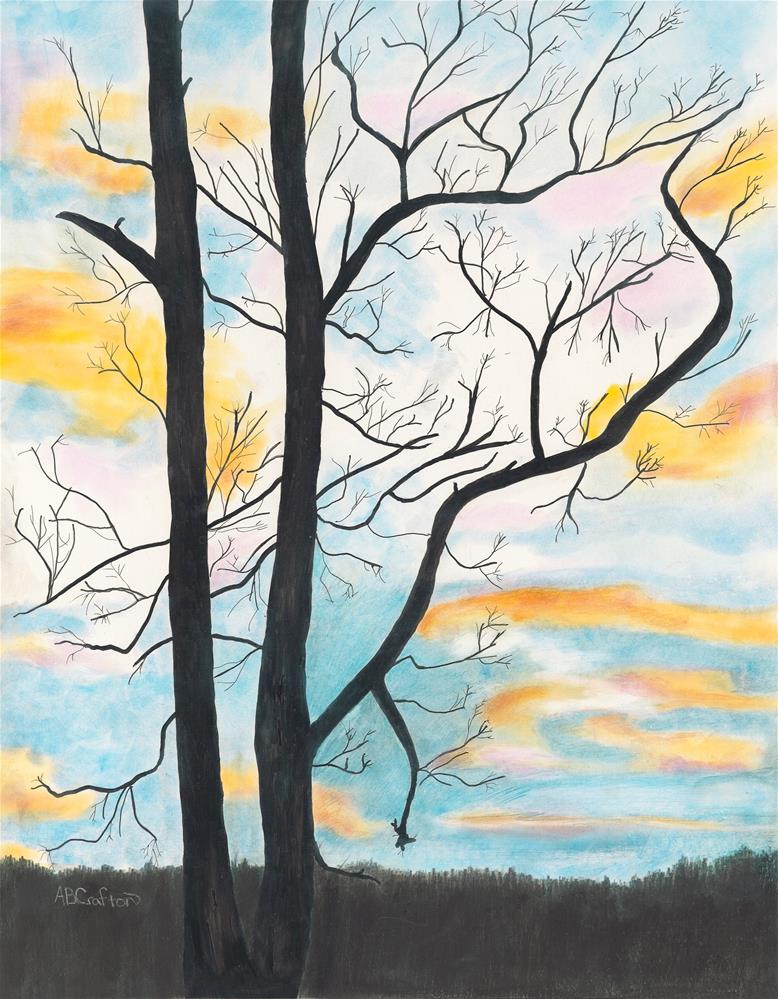 """Crayola Sky"" original fine art by Arlene Crafton"