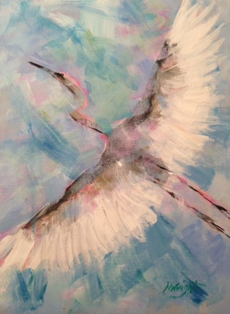 """Soaring"" original fine art by Molly Wright"