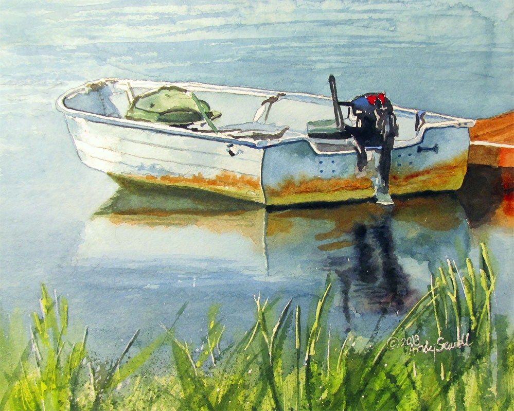 """Ready for Fishin'"" original fine art by Andy Sewell"