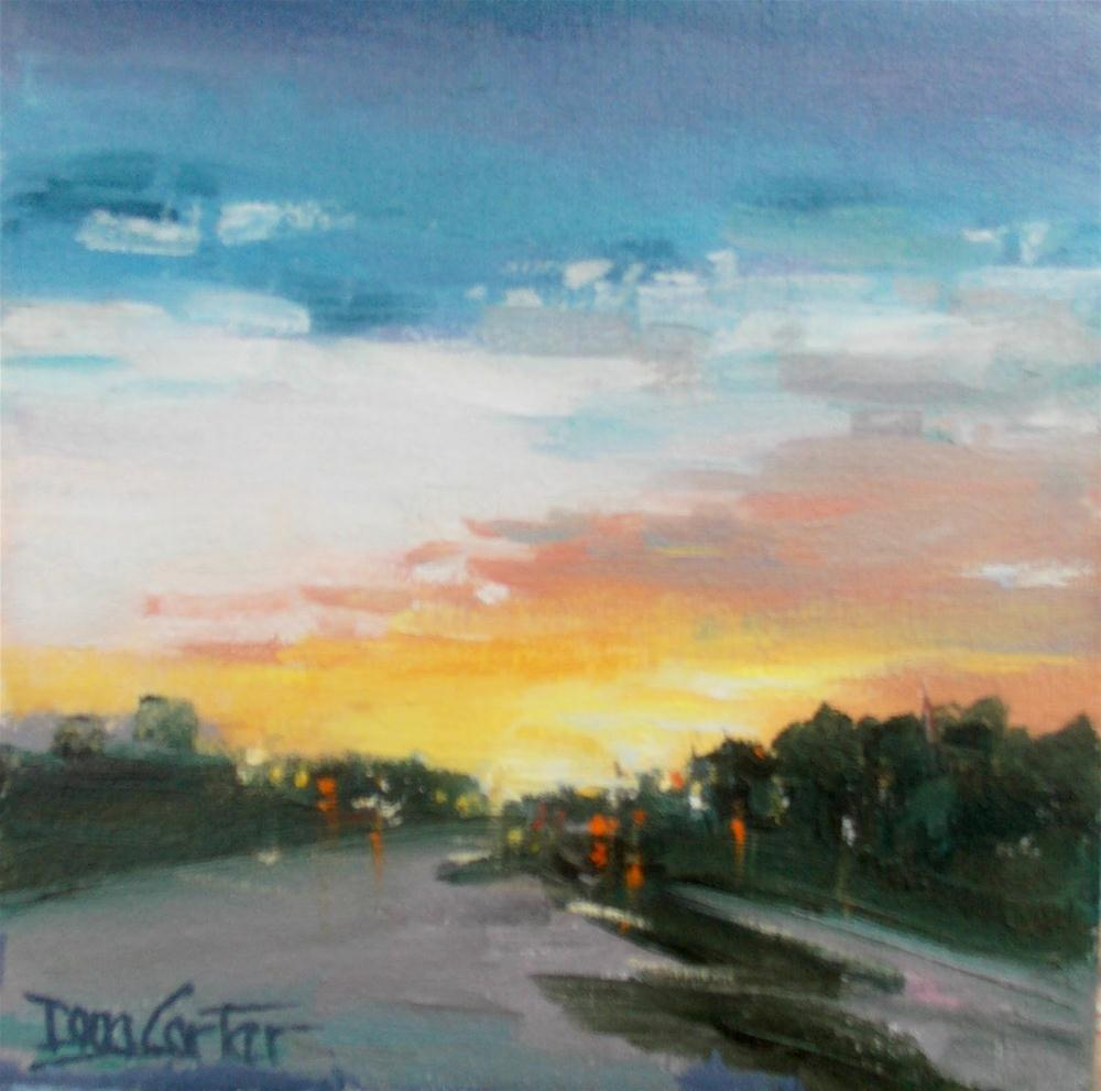 """SUNDOWN TRAVEL"" original fine art by Doug Carter"