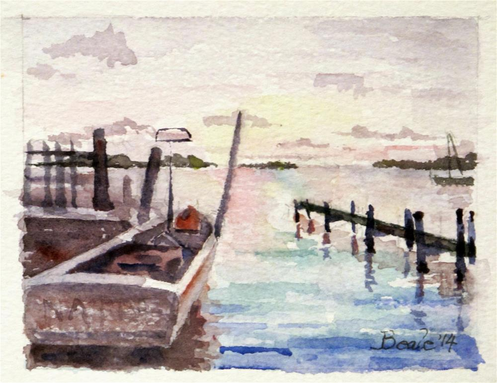 """Pamlico Sound, Outer Banks"" original fine art by  David Beale"
