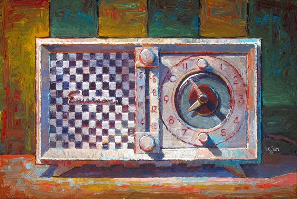 """Emerson Clock Radio"" original fine art by Raymond Logan"