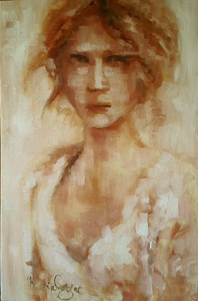 """Victorian lady"" original fine art by Rentia Coetzee"