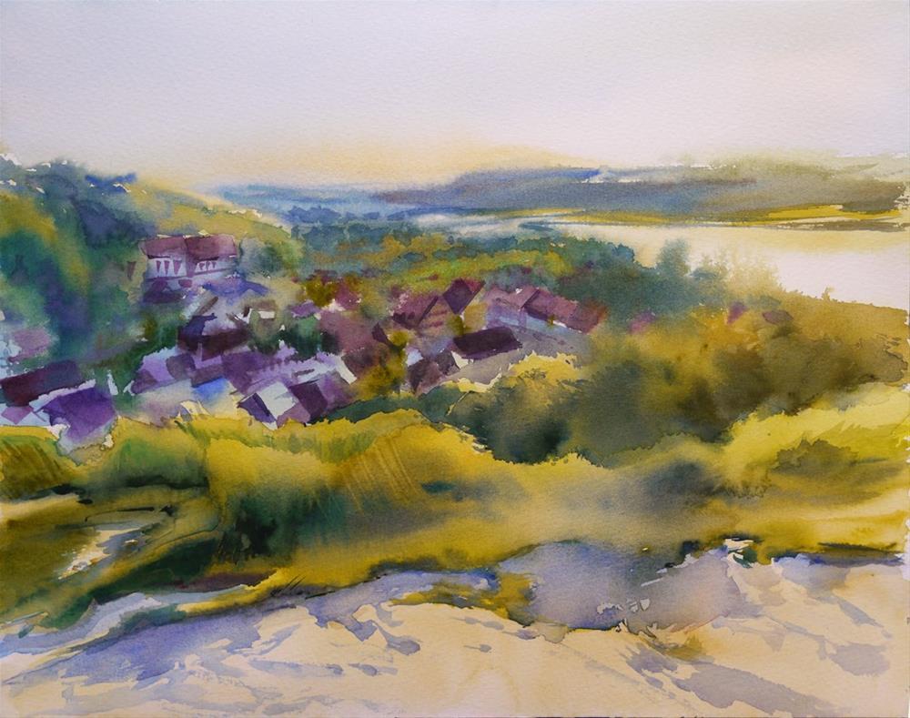 """town"" original fine art by Beata Musial-Tomaszewska"