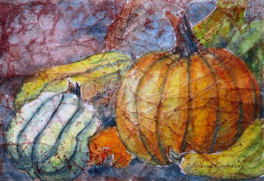 """Gourds and Pumpkins"" original fine art by Tammie Dickerson"