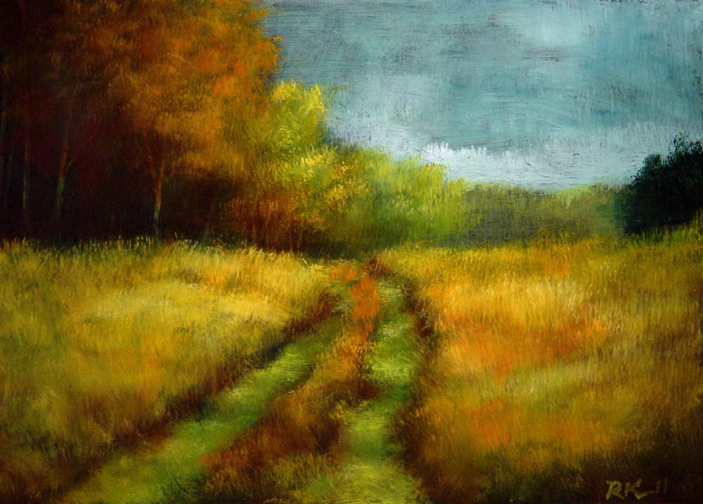 """Grassy Back-Road"" original fine art by Bob Kimball"