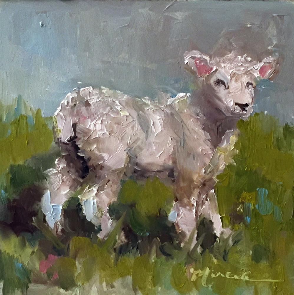 """Little Lamb"" original fine art by Marcia Hodges"