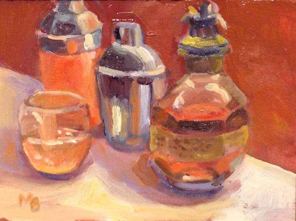 """The Horsey Drink"" original fine art by Marcia Bergtholdt"