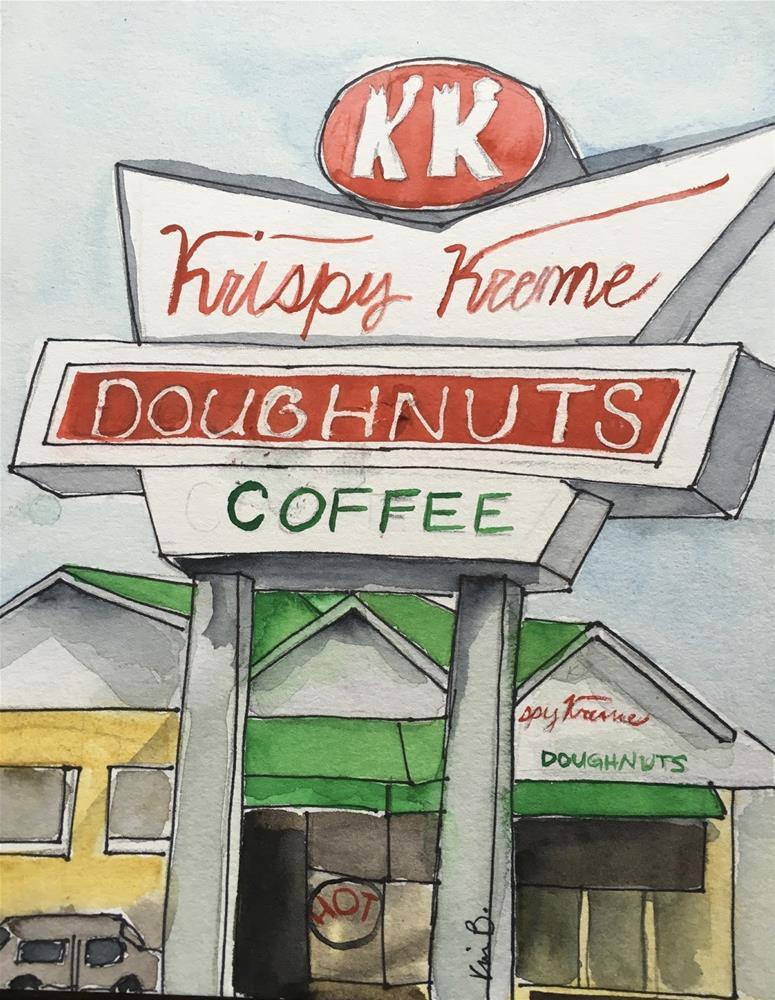 """#21 #30in30 Krispy Kreme"" original fine art by Kimberly Balentine"