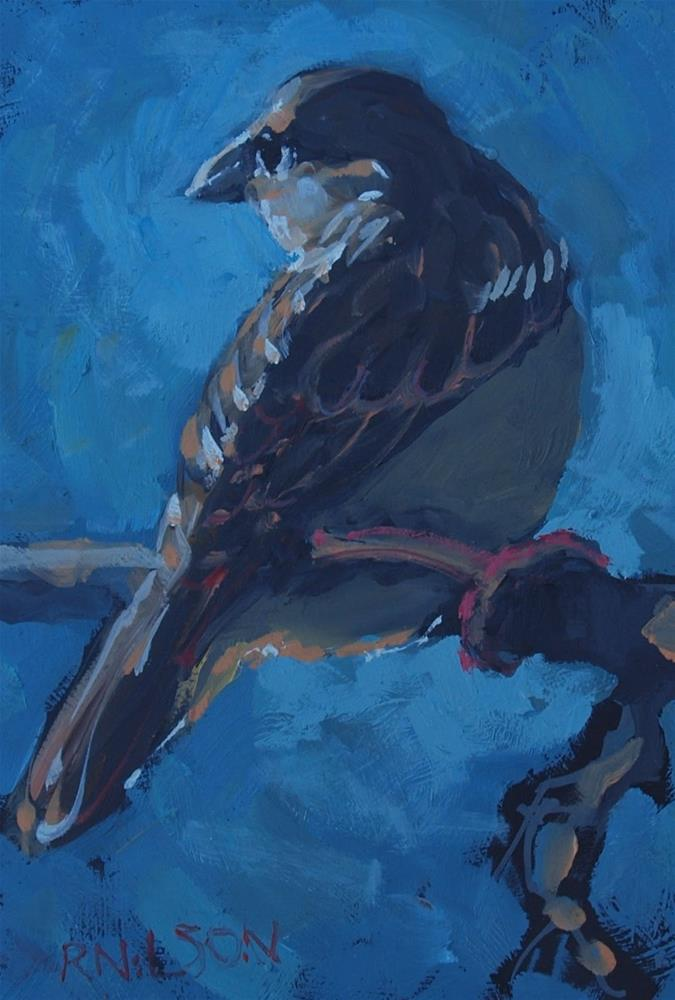 """Something with feathers"" original fine art by Rick Nilson"